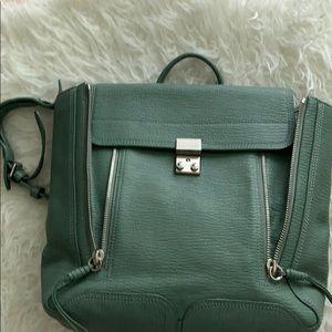 Pastel green Backpack.